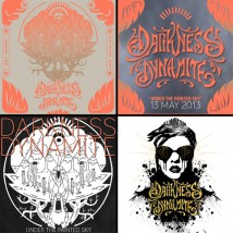 4 Stickers collectors de Darkness Dynamite