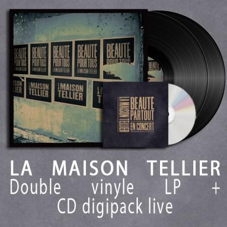 """Pack La Maison Tellier (Vinyle """"Beauté pour tous"""" double gatefold + digipack Beauté Partout)"""