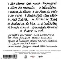 Les Choses qui nous Dérangent (Ed. Digipack) - Back