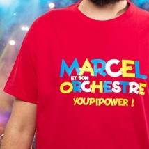 T-shirt Youpi Power rouge (Homme) - Marcel et son orchestre