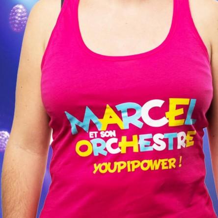 Débardeur Youpi Power Rose (Femme) - Marcel et son orchestre