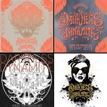 4 Stickers collectors de Darkness Dynamite