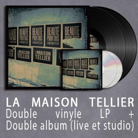 """Pack La Maison Tellier (Vinyle """"Beauté pour tous"""" double gatefold + double album Beauté Pour Tous)"""