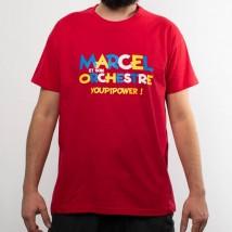 T-shirt Youpi Power rouge (Homme) - Marcel et son orchestre